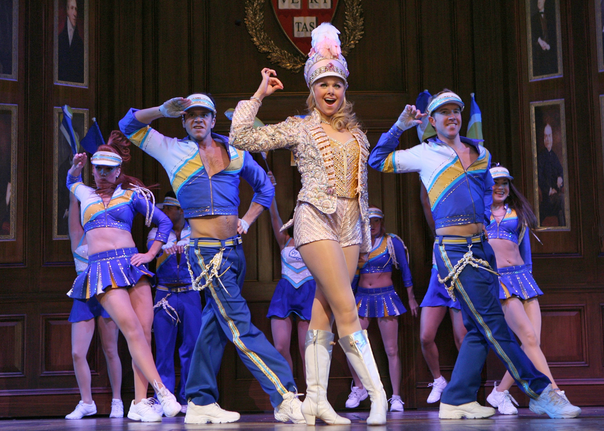 """This photo provided by Barlow-Hartman shows Laura Bell Bundy and company in """"Legally Blonde,"""" now playing at Broadway's Palace Theater. (AP Photo/Barlow-Hartman/Joan Marcus)"""